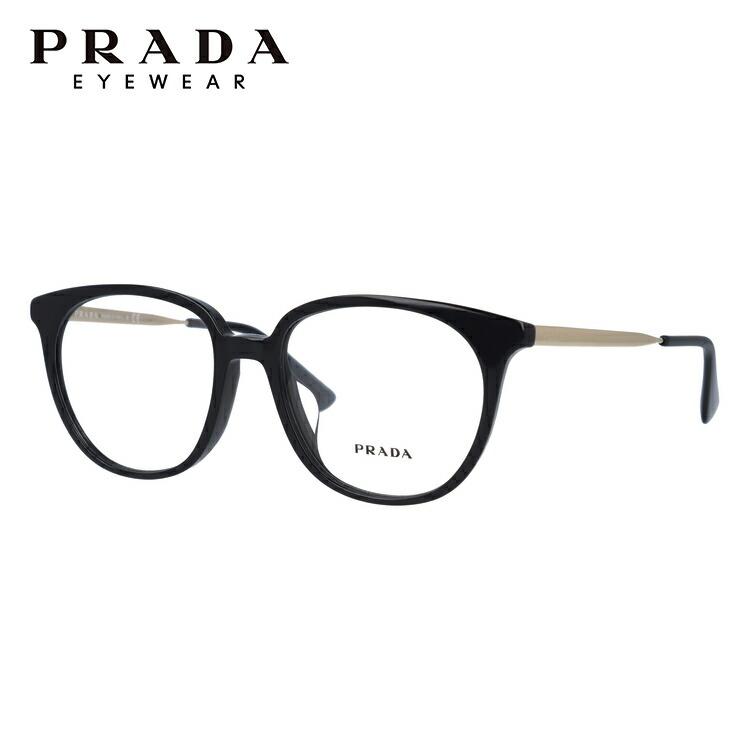 プラダ メガネ フレーム 2018年新作 PR13UVF 1AB1O1 52サイズ メンズ レディース ユニセックス アジアンフィット ウェリントン 度付きメガネ 伊達メガネ 国内正規品 新品【PRADA】