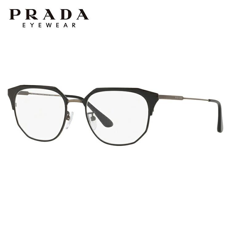 プラダ メガネ フレーム アジアンフィット PRADA PR56VVD 1AB1O1 52サイズ ウェリントン メンズ レディース ユニセックス