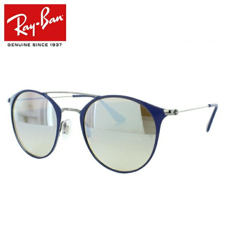 レイバン サングラス 度付き対応 RB3546 90109U 49 ブルー/ガンメタル 調整可能ノーズパッド ミラーレンズ レディース メンズ 国内正規品 【Ray-Ban】