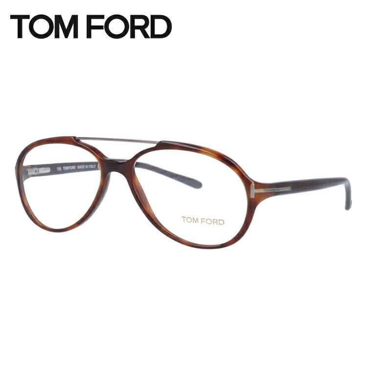 トムフォード メガネ フレーム 0円レンズ対象 セルフレーム TF5017 820 54サイズ ハバナ (べっ甲) シルバー メンズ TOMFORD FT5017 伊達メガネ ダブルブリッジ 新品 【TOMFORD】