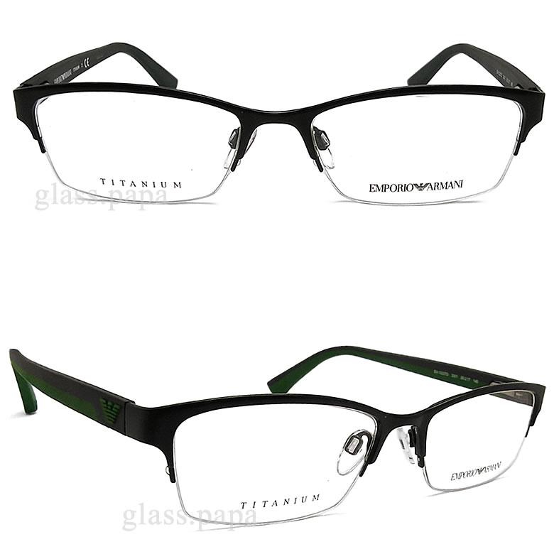 emporioarumani EMPORIO ARMANI眼镜架子EA1023TD-3001眼镜名牌没镜片的眼镜度从属于的黑色人glasspapa