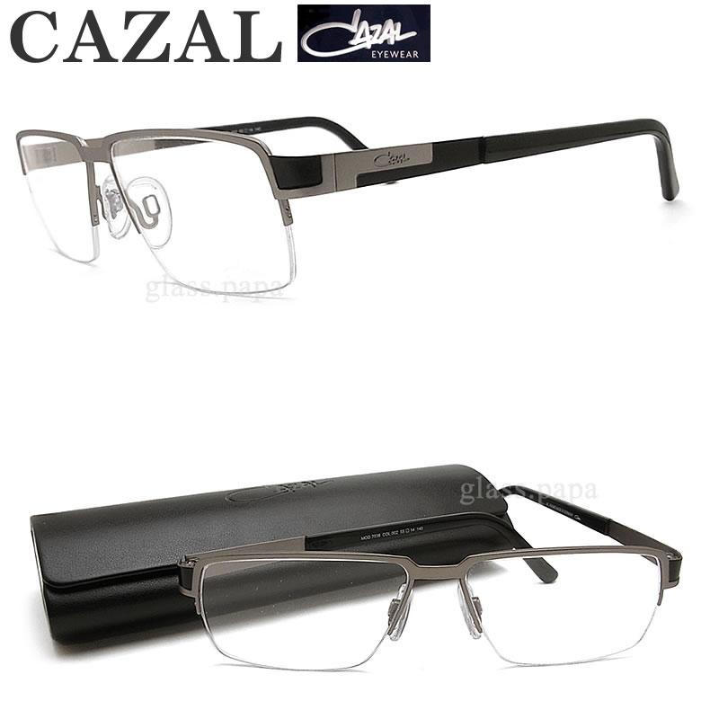 CAZAL カザール メガネフレーム 7038 002 眼鏡 ブランド 伊達メガネ 度付き グレー チタン メンズ 男性