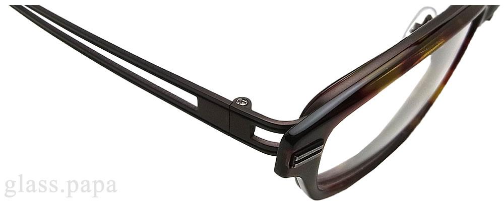 クロニック メガネ フレーム CH-114-2  眼鏡 伊達メガネ 度付き ダークハバナ メンズ