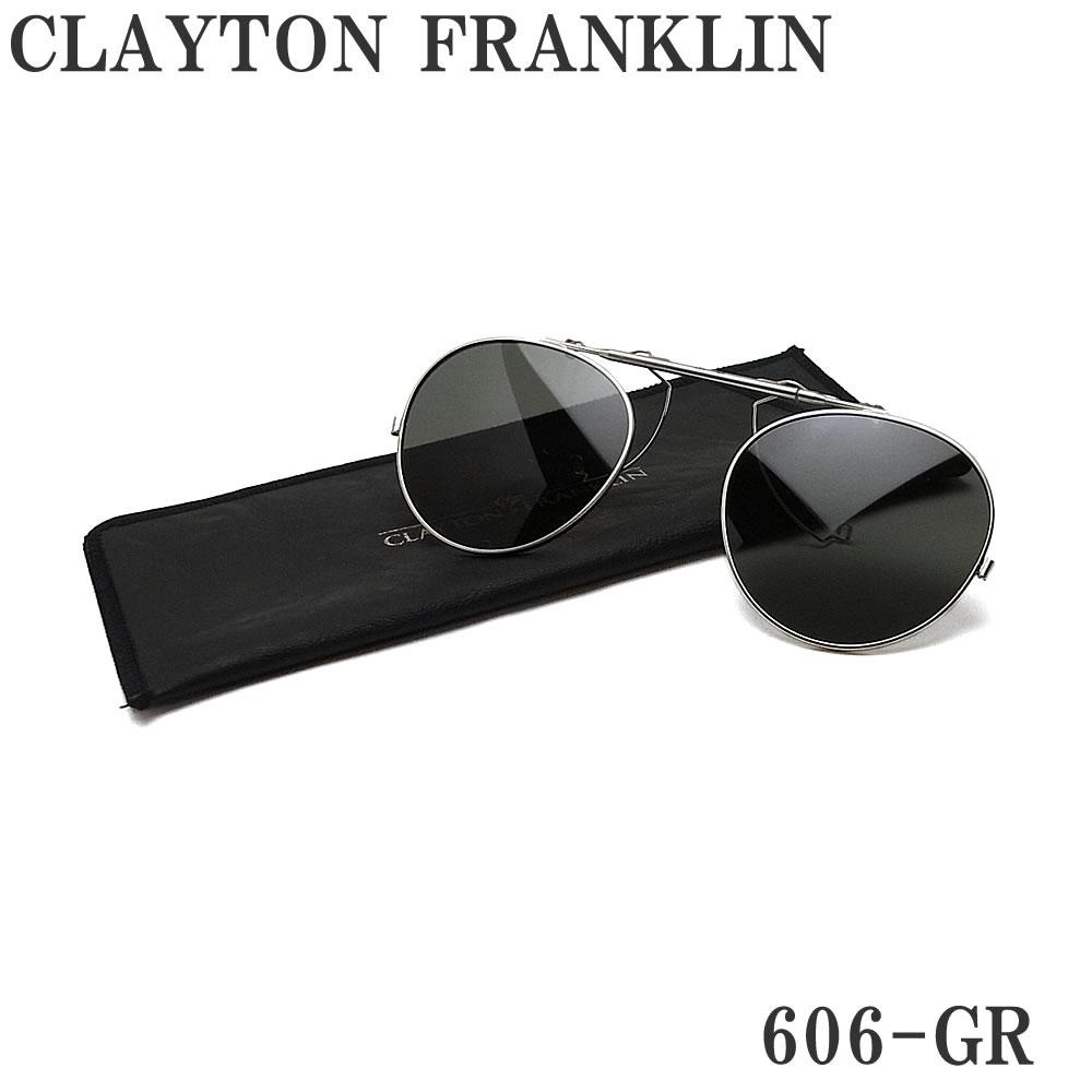 日本全国送料無料 定番スタイル ギフトラッピング 代引き手数料無料 日本製 クレイトン フランクリン FRANKLIN CLAYTON 606用クリップオン 606-GR