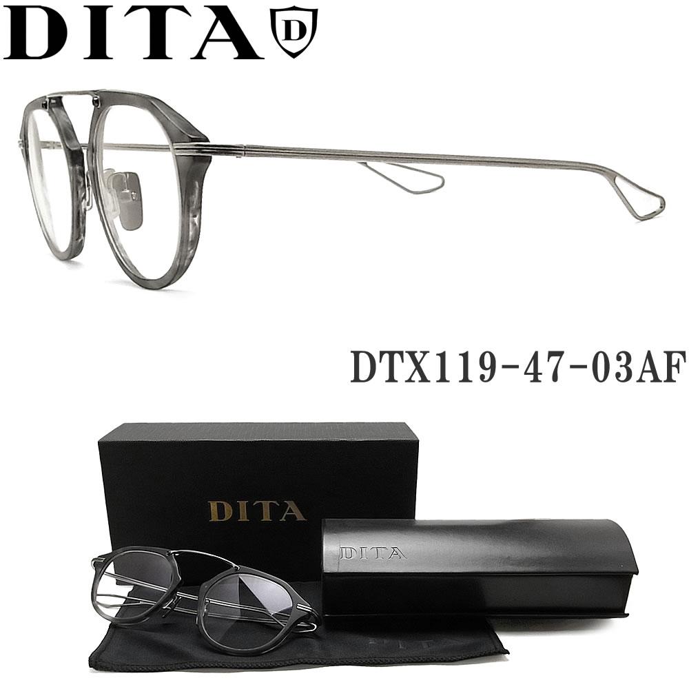 【ポイント5倍★クーポンも発行 お買い物マラソン】 DITA ディータ メガネ フレーム DTX119-47-03AF GRY-SLV 【KOHN】 眼鏡 クラシック 伊達メガネ 度付き マットグレーハバナ メンズ