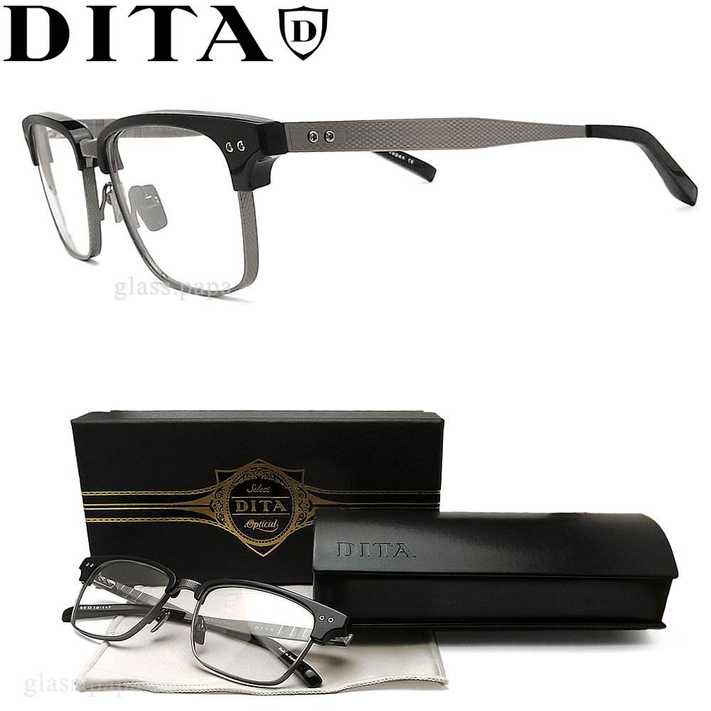 DITA ディータ メガネ フレーム DRX-2064-A-BLK-SLV サイズ52 【STATESMAN THREE】 眼鏡 クラシック 伊達メガネ 度付き ブラック メンズ
