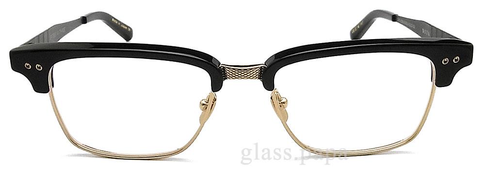 ditamegane DITA DRX-2064-B-BLK尺寸55眼镜古典没镜片的眼镜度从属于的黑色×黄金人glasspapa