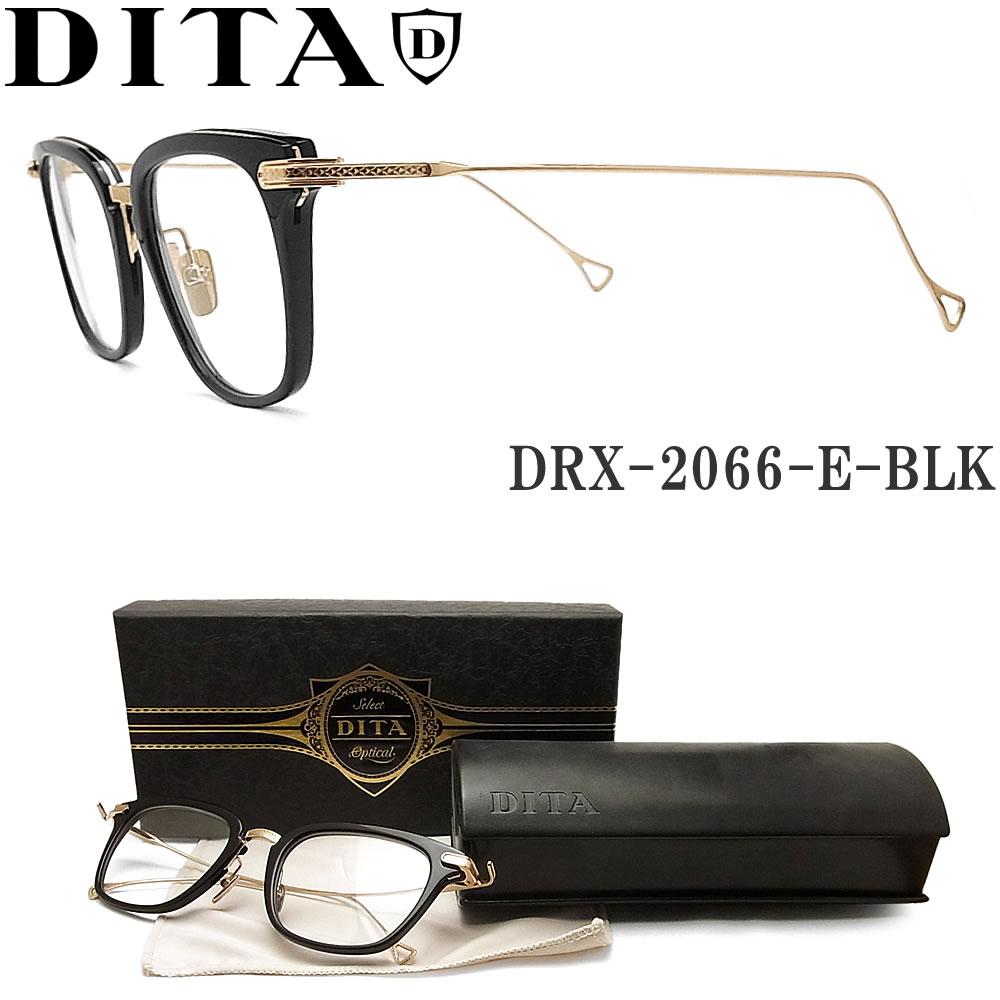 DITA ディータ メガネ フレーム DRX-2066-E-BLK-GLD 【STATESIDE】 眼鏡 クラシック 伊達メガネ 度付き ブラック×ゴールド メンズ