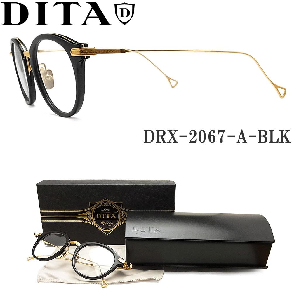 DITA ディータ メガネ フレーム DRX-2067-A-BLK-GLD-47【EDMONT】 眼鏡 クラシック 伊達メガネ 度付き マットブラック×ゴールド メンズ