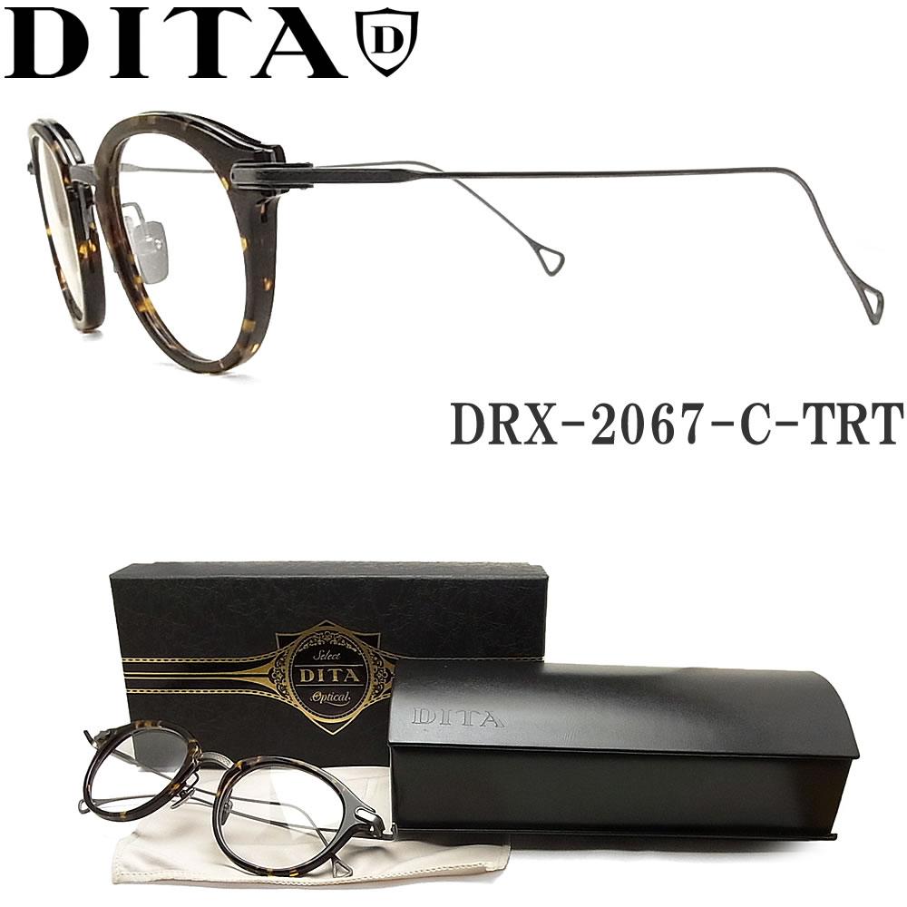 DITA ディータ メガネ フレーム DRX-2067-C-TRT-GUN-47【EDMONT】 眼鏡 クラシック 伊達メガネ 度付き トータス×ガンメタル メンズ