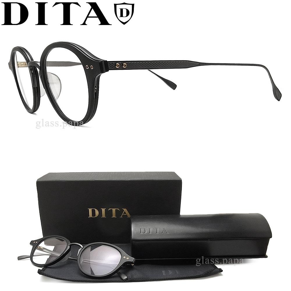 DITA ディータ メガネ フレーム DRX-2083-A-BLK-BLK-47 【SPRUCE】 眼鏡 クラシック 伊達メガネ 度付き マットブラック メンズ