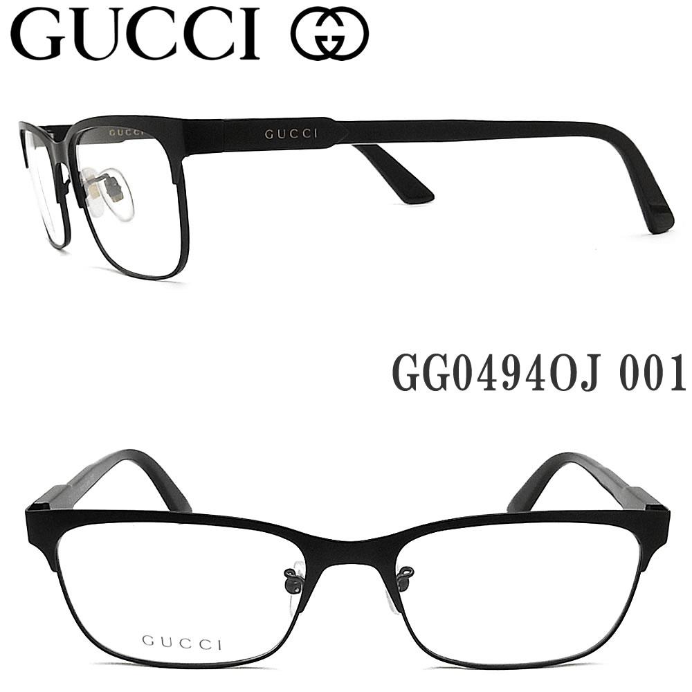 グッチ メガネ GUCCI GG0494OJ 001 眼鏡 ブランド 伊達メガネ 度付き マットブラック メンズ 男性 コンビ, Life Style EC 3a56243f