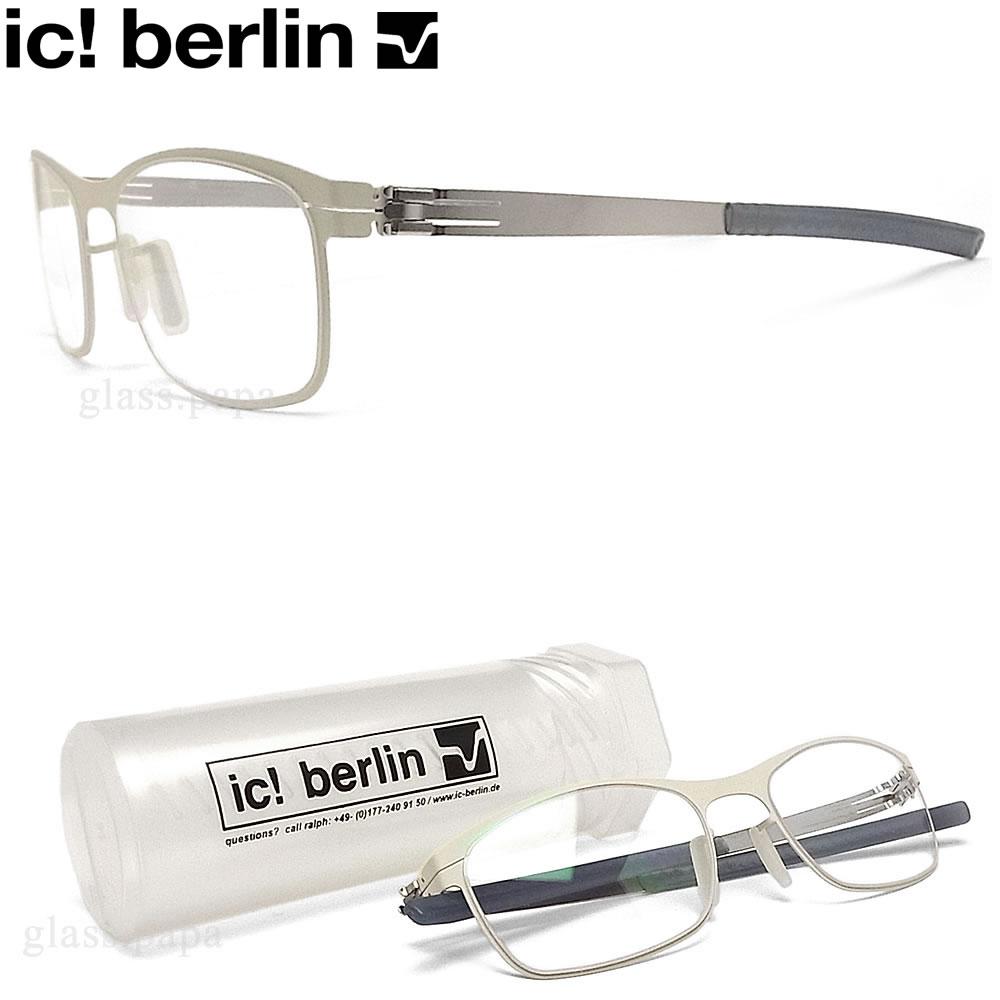 ic! berlin アイシーベルリン メガネ CARLOTTA カルロッタ 眼鏡 伊達メガネ 度付き オフホワイト