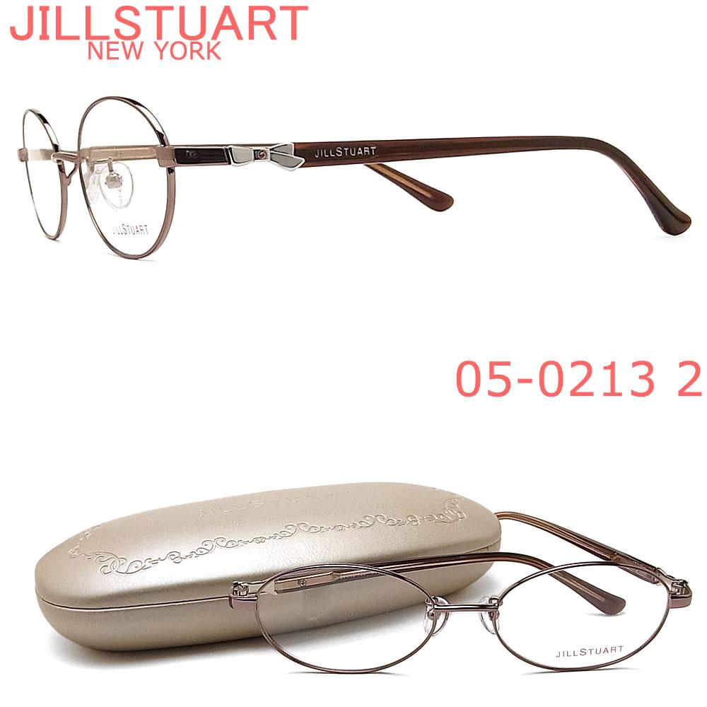 JILLSTUART ジルスチュアート メガネ フレーム 05-0213 2 眼鏡 ブラウン ブランド 伊達メガネ 度付き レディース 女性