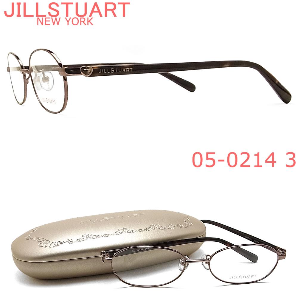 正規品取り扱い認定店舗日本全国送料無料 ギフトラッピング 代引き手数料無料 売り出し オプションで 伊達 度付 PC用レンズ 老眼用レンズ交換 JILLSTUART ジルスチュアート メガネ 05-0214 ブランド ブラウン フレーム 女性 レディース 3 伊達メガネ 度付き 販売 眼鏡