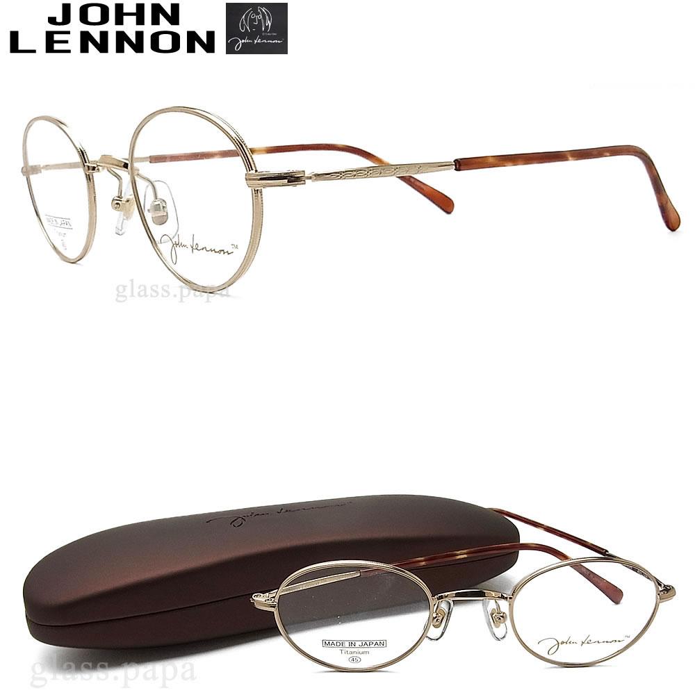 JOHN LENNON ジョンレノン メガネ フレーム JL1030-1 眼鏡 クラシック 伊達メガネ 度付き ゴールド メンズ レディース メタル 日本製