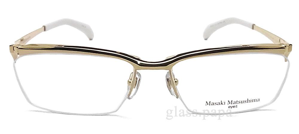 masakimatsushimamegane MF-1177-1眼镜名牌没镜片的眼镜度从属于的黄金钛人glasspapa