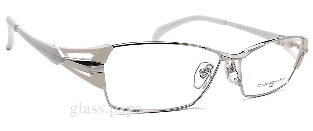 masakimatsushimamegane MF-1182-1眼镜名牌没镜片的眼镜度从属于的银子钛人glasspapa