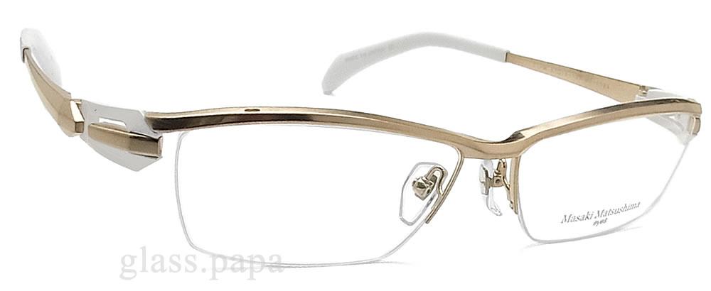 masakimatsushimamegane MF-1184 1眼镜名牌没镜片的眼镜度从属于的白色合金钛人glasspapa
