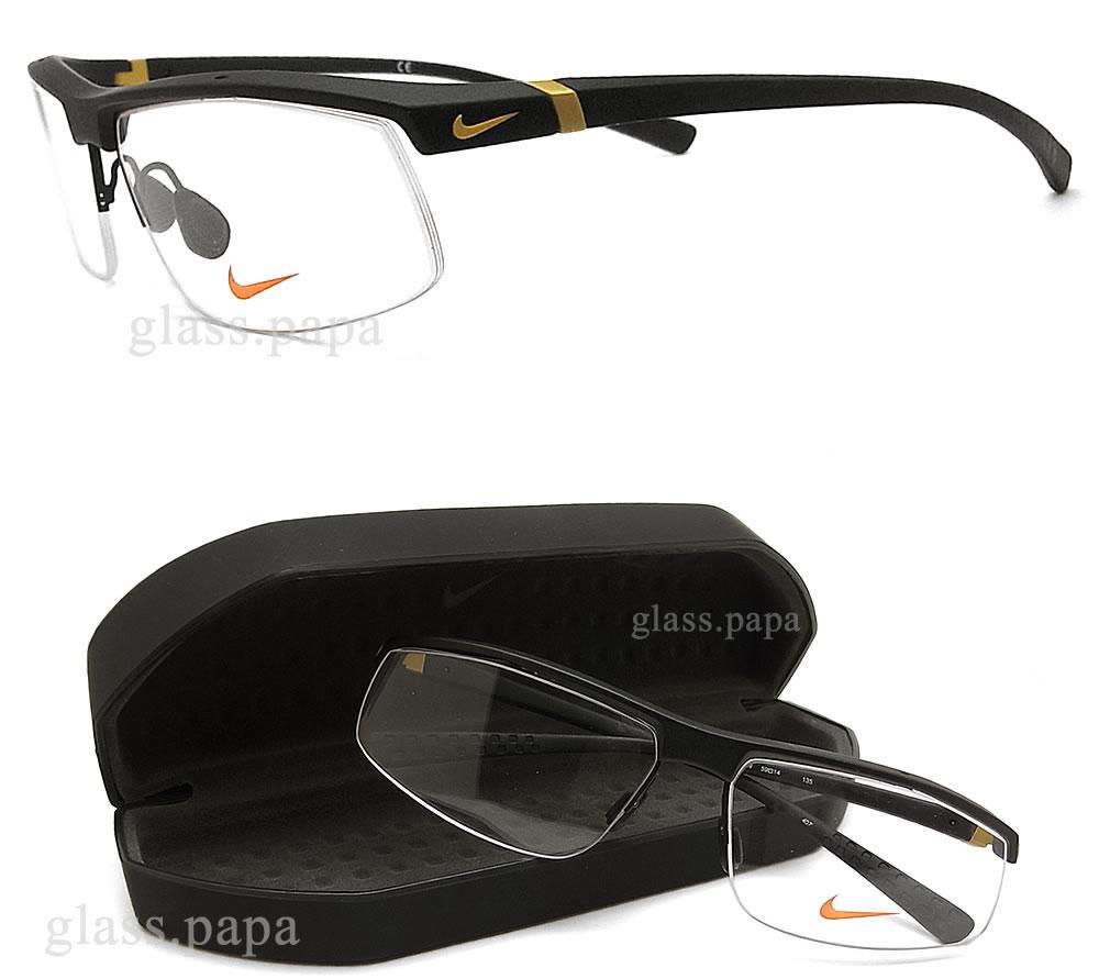耐克NIKE眼镜架子70713-009眼镜名牌体育没镜片的眼镜度从属于的黑色人glasspapa