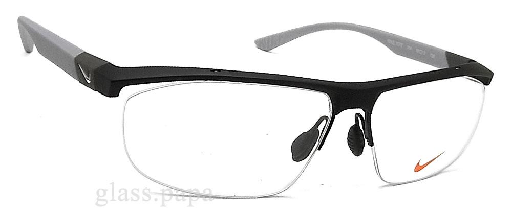 耐克NIKE眼镜架子7077-004眼镜名牌体育没镜片的眼镜度从属于的垫子黑色人glasspapa