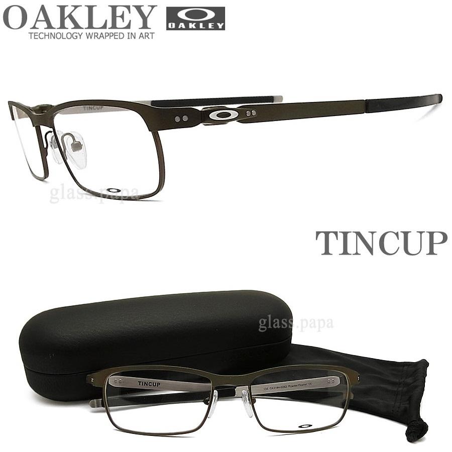 OAKLEY オークリー メガネフレーム [TINCUP ティンカップ] OX3184-0254 眼鏡 ブランド スポーツ 伊達メガネ 度付き POWDER PEWTER メンズ