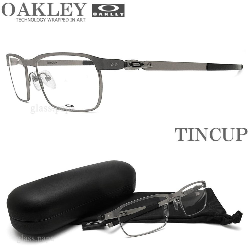 OAKLEY オークリー メガネフレーム [TINCUP ティンカップ] OX3184-0454 眼鏡 ブランド スポーツ 伊達メガネ 度付き POWDER STEEL メンズ