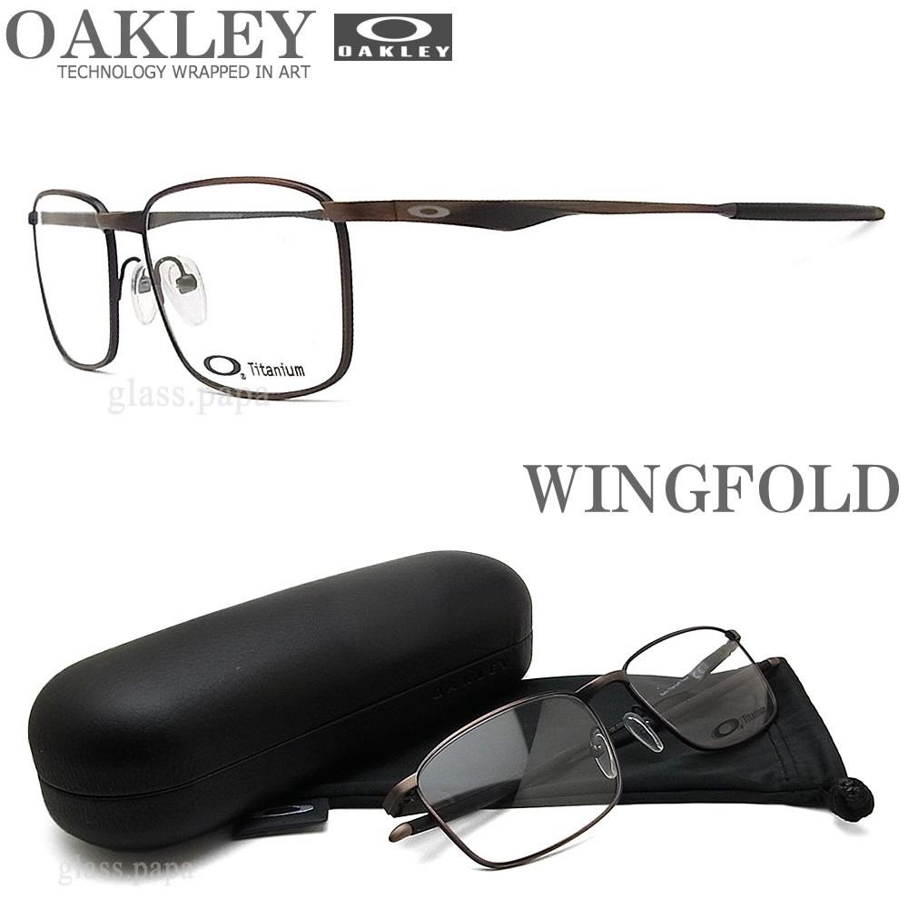 OAKLEY オークリー メガネフレーム [WINGFOLD ウィングフォールド] OX5100-0454 眼鏡 ブランド スポーツ 伊達メガネ 度付き Toast メンズ