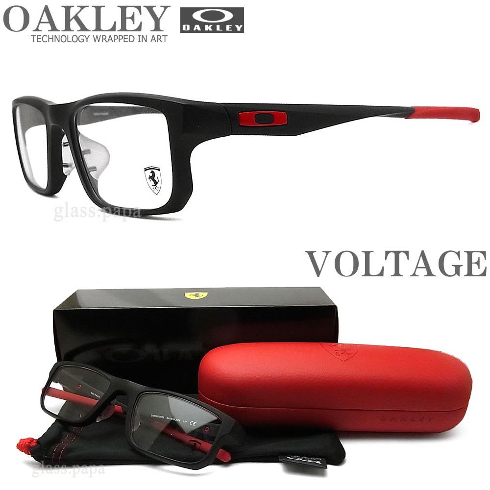 OAKLEY オークリー メガネフレーム [VOLTAGE ボルテージ] OX8066-0853 (サイズ53) [Ferrari Collection フェラーリ コレクション] 【送料無料・代引手数料無料】 眼鏡 ブランド スポーツ 伊達メガネ 度付き マットブラック メンズ・レディース