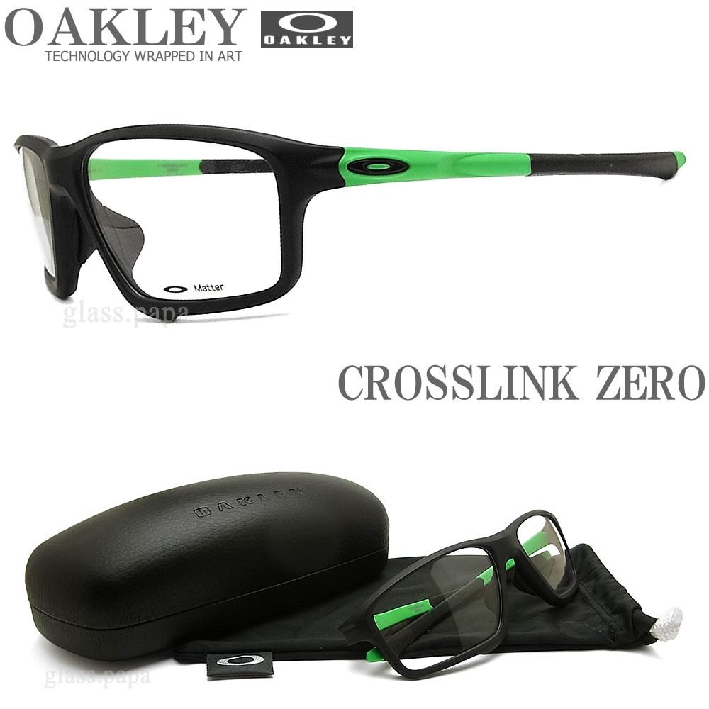 OAKLEY オークリー メガネフレーム [CROSSLINK ZERO クロスリンク ゼロ] OX8080-0558 眼鏡 ブランド スポーツ 伊達メガネ 度付き Satin Black メンズ・レディース