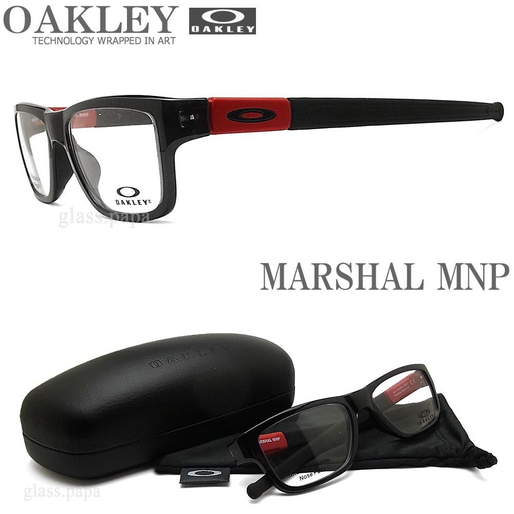 OAKLEY オークリー メガネフレーム [MARSHAL MNP マーシャルエムエヌピー] OX8091-0351 (サイズ51) 眼鏡 ブランド スポーツ 伊達メガネ 度付き Black Ink メンズ・レディース