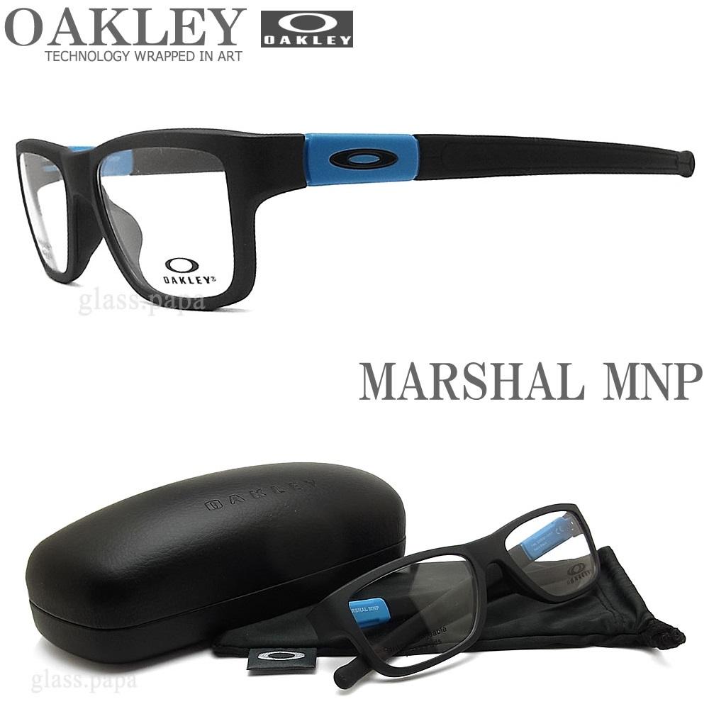 OAKLEY オークリー メガネフレーム [MARSHAL MNP マーシャルエムエヌピー] OX8091-0455 (サイズ55) 眼鏡 ブランド スポーツ 伊達メガネ 度付き Satin Black メンズ・レディース