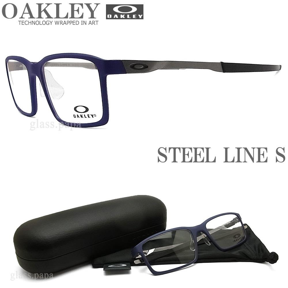 OAKLEY オークリー メガネフレーム [STEEL LINE S スティールライン エス] OX8097-0354 (サイズ54) 【送料無料・代引手数料無料】 眼鏡 ブランド スポーツ 伊達メガネ 度付き Matte Denim メンズ・レディース