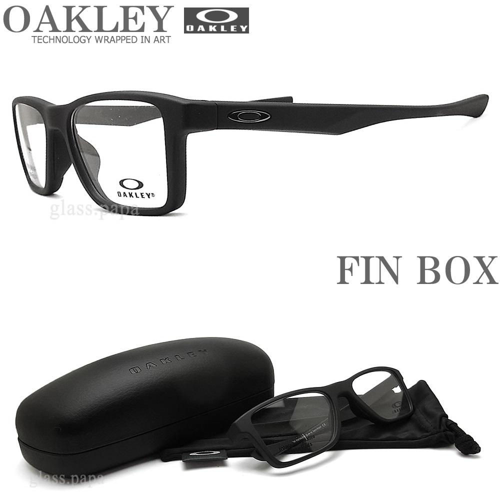 OAKLEY オークリー メガネフレーム [FIN BOX フィンボックス] OX8108-0151 サイズ51 眼鏡 ブランド スポーツ 伊達メガネ 度付き Satin Black メンズ・レディース