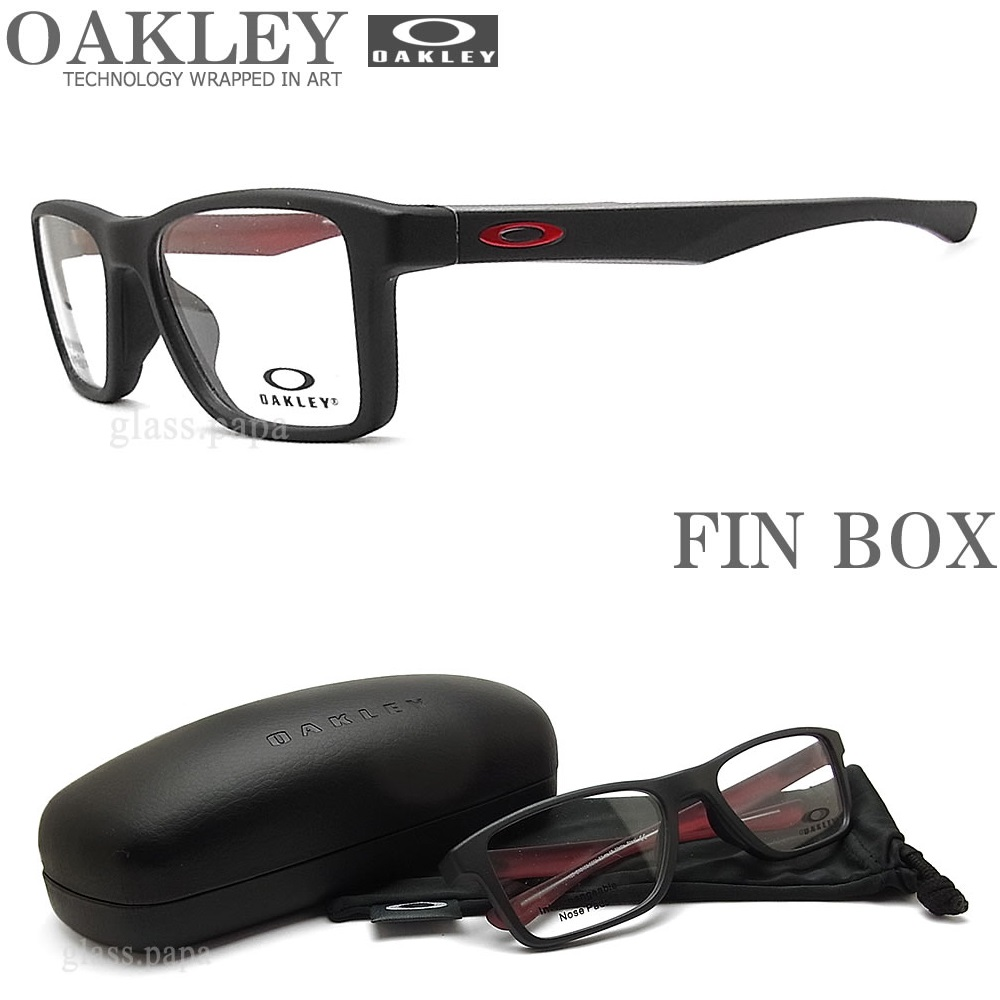 OAKLEY オークリー メガネフレーム [FIN BOX フィンボックス] OX8108-0251 サイズ51 眼鏡 ブランド スポーツ 伊達メガネ 度付き Matte Steel メンズ・レディース