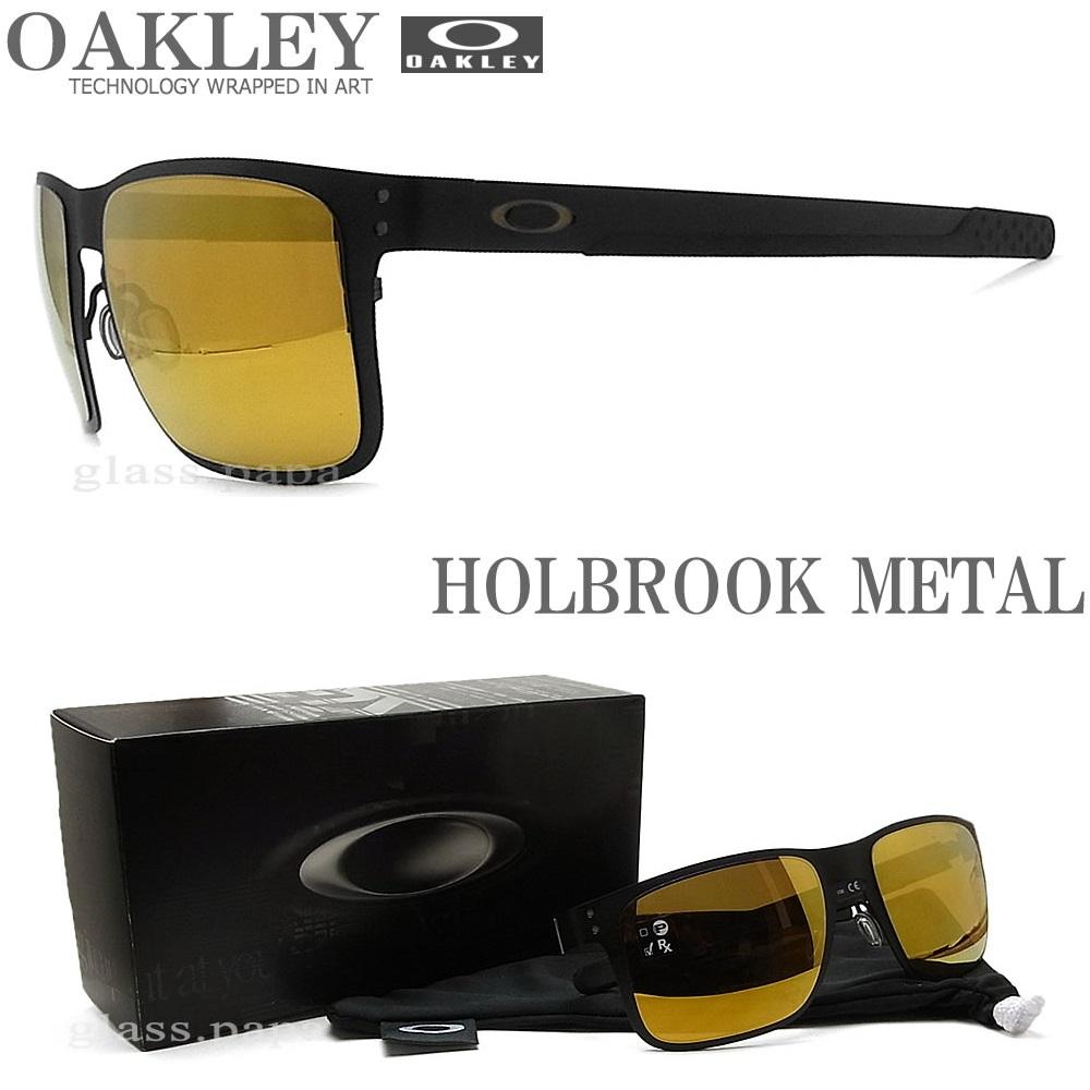 OAKLEY オークリー サングラス 004123-1355 ホルブルックメタル HOLBROOK METAL 24K Iridium ミラーレンズ Matte Black マットブラック