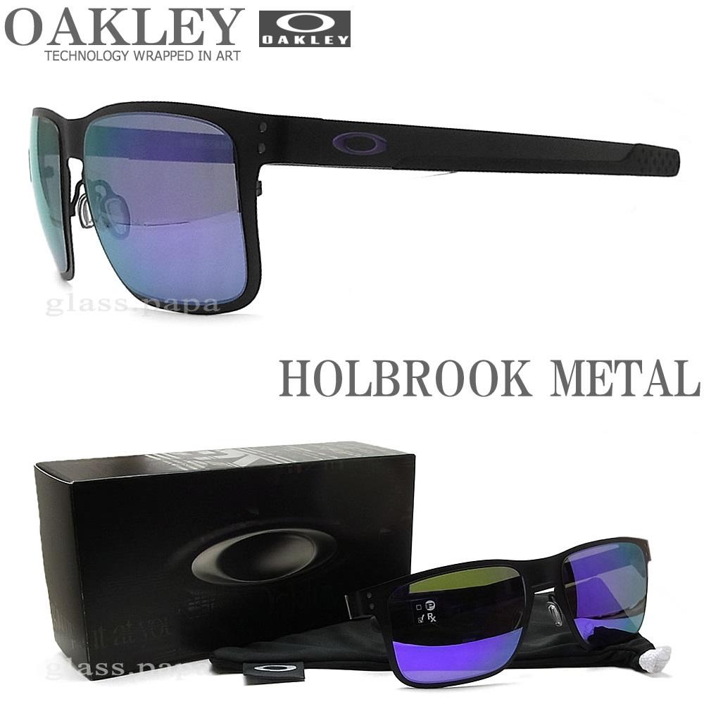 OAKLEY オークリー サングラス 004123-1455 ホルブルックメタル HOLBROOK METAL Violet Iridium ミラーレンズ Matte Black マットブラック