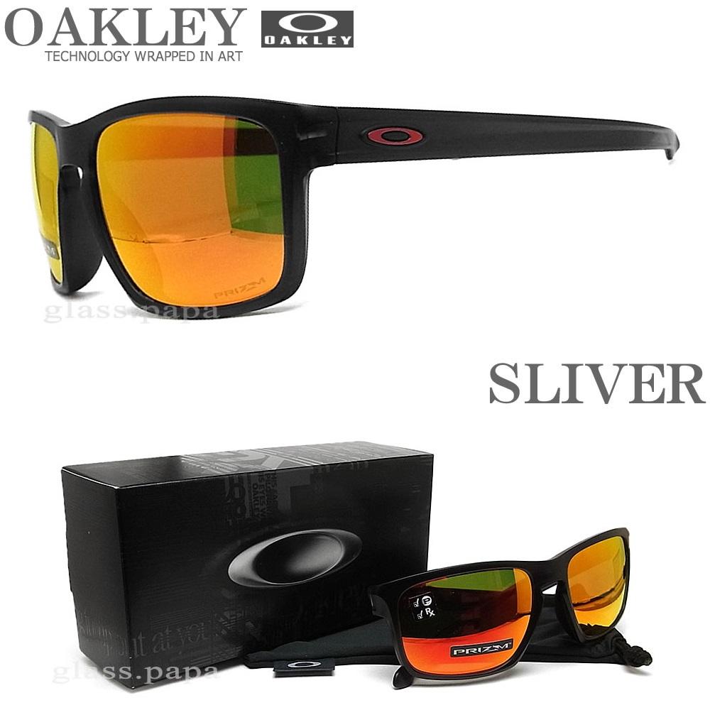 OAKLEY オークリー サングラス 009269-1757 偏光レンズ スリバー アジアンフィット SLIVER PRIZM RUBY POLA プリズムルビー MATTE BLACK