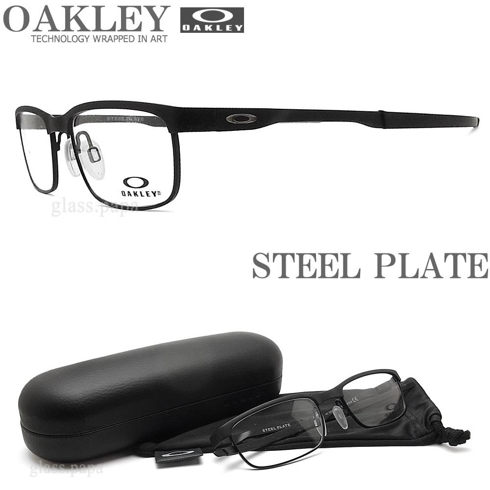 【ポイント5倍★クーポンも発行 お買い物マラソン】 OAKLEY オークリー メガネフレーム [STEEL PLATE スティールプレート] OX3222-0154 (サイズ54) 眼鏡 ブランド スポーツ 伊達メガネ 度付き Powder Coal メンズ・レディース