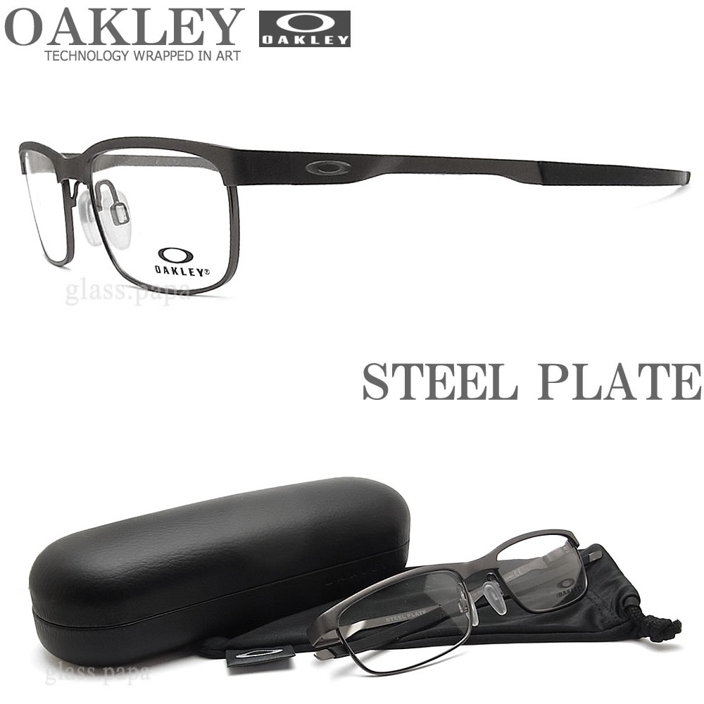 7661985a853  楽天市場 OAKLEY オークリー メガネフレーム  STEEL PLATE スティールプレート  OX3222-