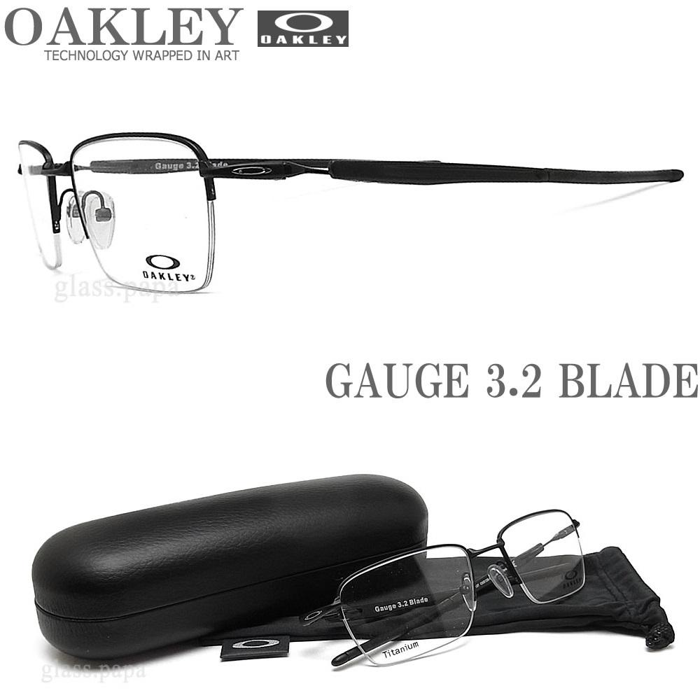 OAKLEY オークリー メガネフレーム [GAUGE 3.2 BLADE ゲージ3.2ブレード] OX5128-0152 (サイズ52) 眼鏡 スポーツ 伊達メガネ 度付き Matte Black