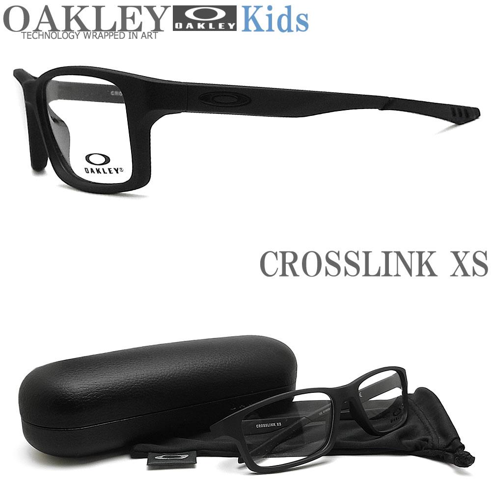 OAKLEY 子供用 オークリー メガネフレーム [CROSSLINK XS クロスリンクXS] OY8002-0151 眼鏡 ブランド スポーツ 伊達メガネ 度付き Satin Black キッズ