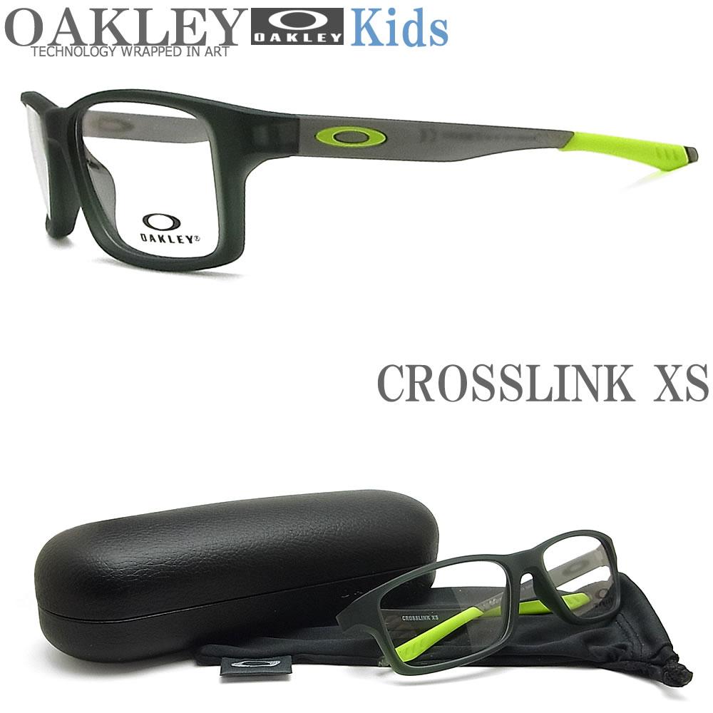 OAKLEY 子供用 オークリー メガネフレーム [CROSSLINK XS クロスリンクXS] OY8002-1151 眼鏡 ブランド スポーツ 伊達メガネ 度付き Satin Olive キッズ