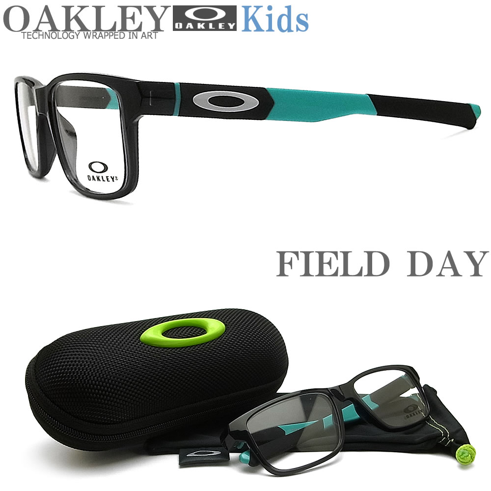 OAKLEY 子供用 オークリー メガネフレーム [FIELD DAY フィールドデイ] OY8007-0350 眼鏡 ブランド スポーツ 伊達メガネ 度付き Black Ink キッズ