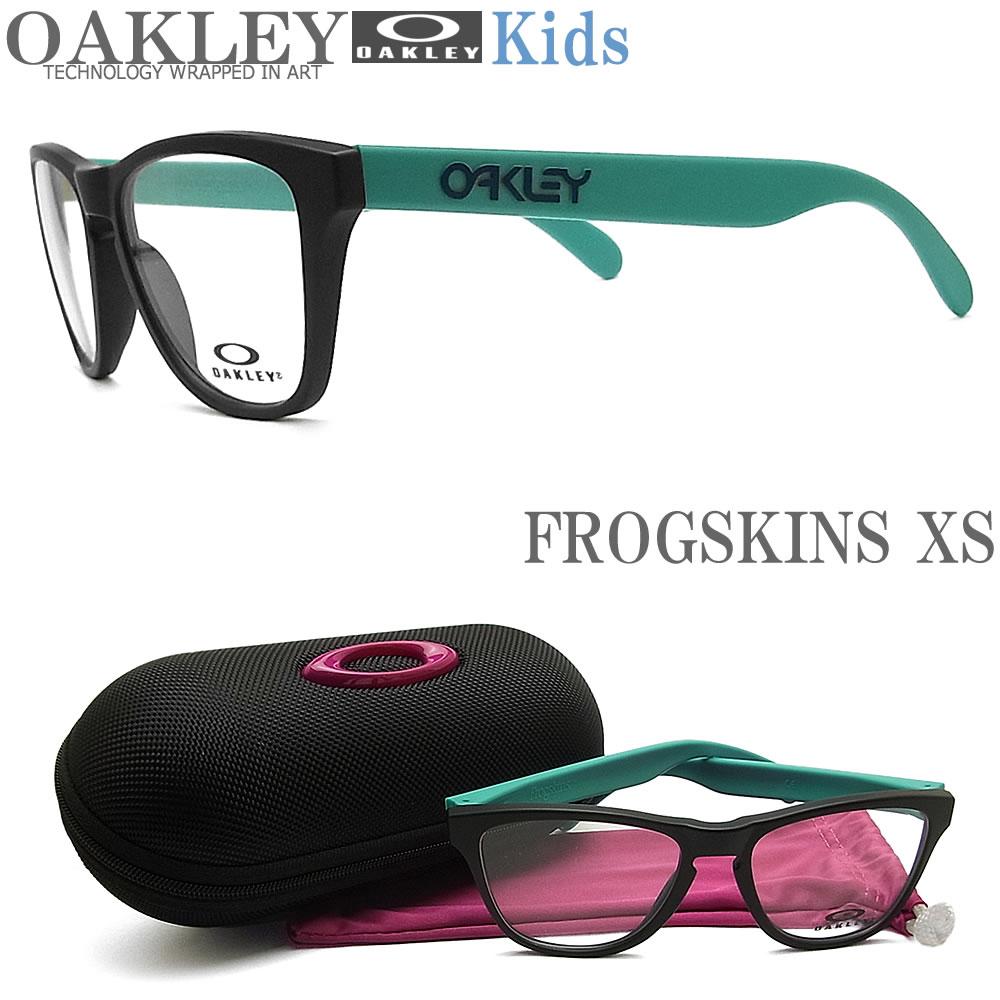 OAKLEY 子供用 オークリー メガネフレーム [FROGSKINS XS フロッグスキンXS] OY8009-0150 眼鏡 ブランド スポーツ 伊達メガネ 度付き Satin Black キッズ
