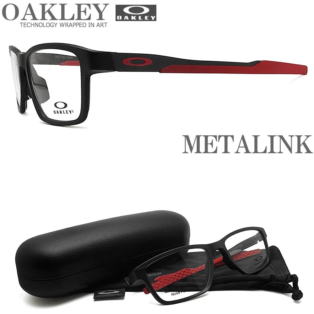 OAKLEY オークリー メガネフレーム [METALINK メタリンク] OX8153-0655 (サイズ55) 眼鏡 ブランド スポーツ 伊達メガネ 度付き Satin Black メンズ・レディース