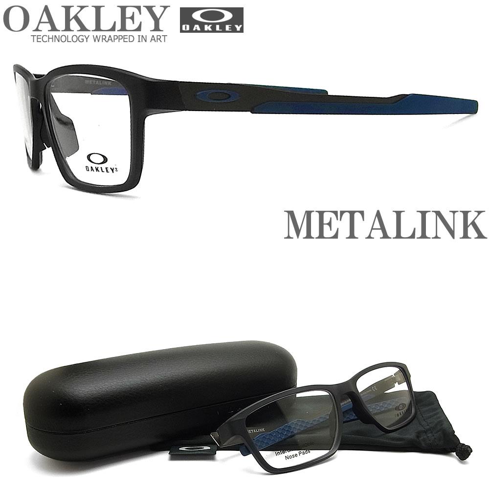 OAKLEY オークリー メガネフレーム [METALINK メタリンク] OX8153-0755 (サイズ55) 眼鏡 ブランド スポーツ 伊達メガネ 度付き Satin Grey Smoke メンズ・レディース