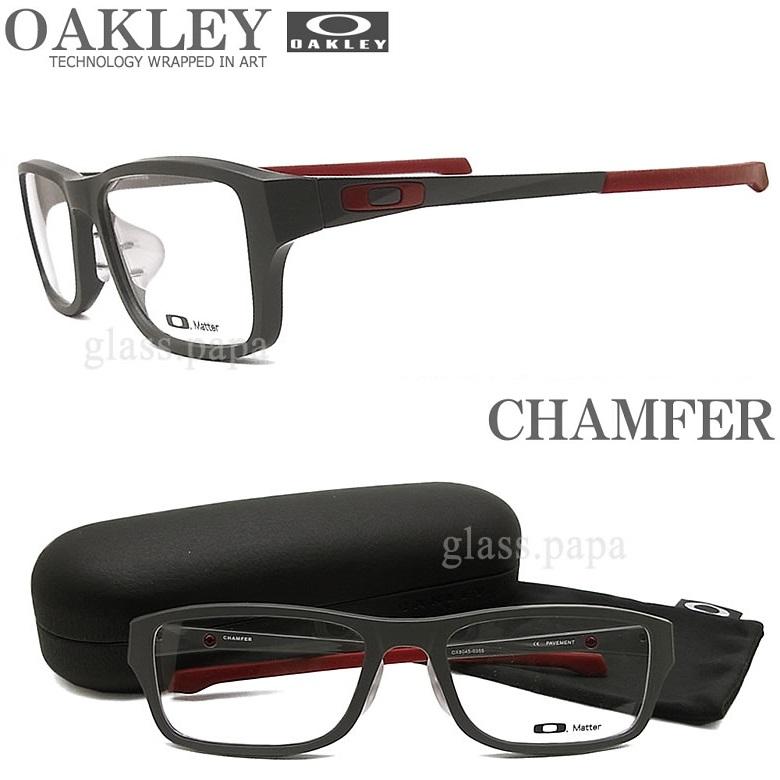 OAKLEY オークリー メガネフレーム [CHAMFER シャンファー] OX8045-0355 (サイズ55) 【送料無料・代引手数料無料】 眼鏡 ブランド スポーツ 伊達メガネ 度付き グレー メンズ・レディース