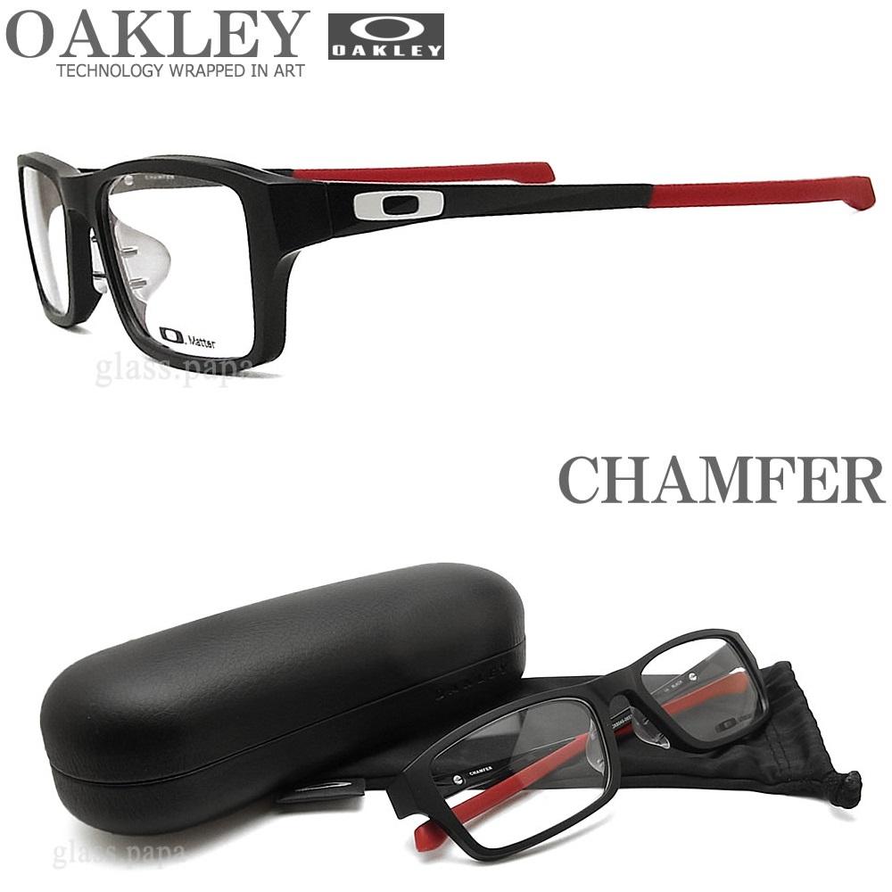 OAKLEY オークリー メガネフレーム [CHAMFER シャンファー] OX8045-0655 (サイズ55) 【送料無料・代引手数料無料】 眼鏡 ブランド スポーツ 伊達メガネ 度付き ブルー メンズ