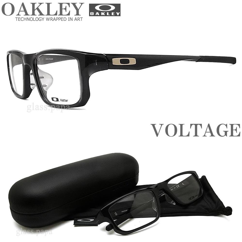 OAKLEY オークリー メガネフレーム [VOLTAGE ボルテージ] OX8066-0253 (サイズ53) 【送料無料・代引手数料無料】 眼鏡 ブランド スポーツ 伊達メガネ 度付き クリアブラック メンズ・レディース